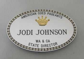 Classic Crown Name Badge