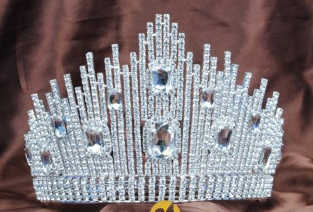 Miss Universe DIC Crown - All Clear or Clear with Blue or Red accents