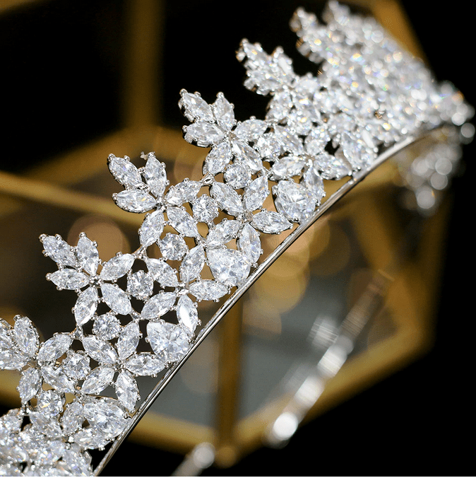 Clementine CZ Tiara - Gold or Silver
