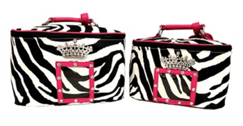 Zebra Crown Case Set - Black or Pink Trim