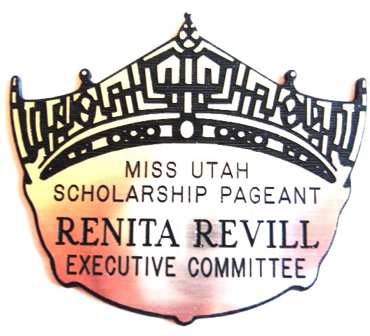 Crown Name Badge