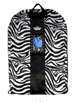 Crown Zebra Garment Bag - Black or Pink Trim