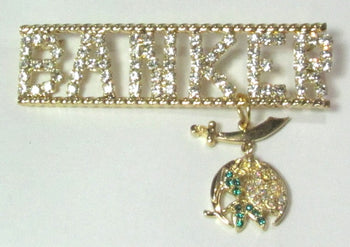 Daughters of the Nile Banker Station Pin