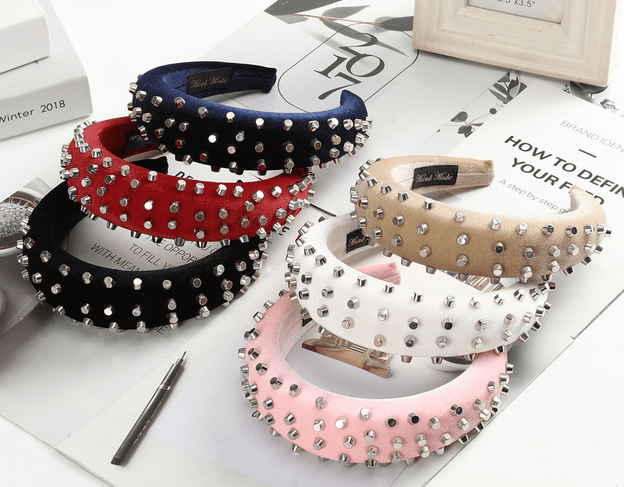Decorative Studded Headbands - 6 colors!