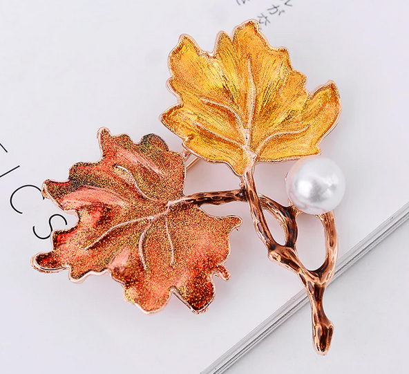 Double Maple Leaves Pin 2021