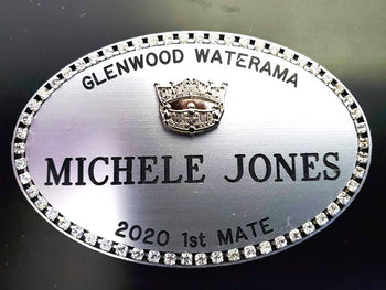 America Crown Name Badge
