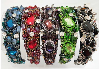 Exquisite Multi-Stoned Headband - 5 colors!