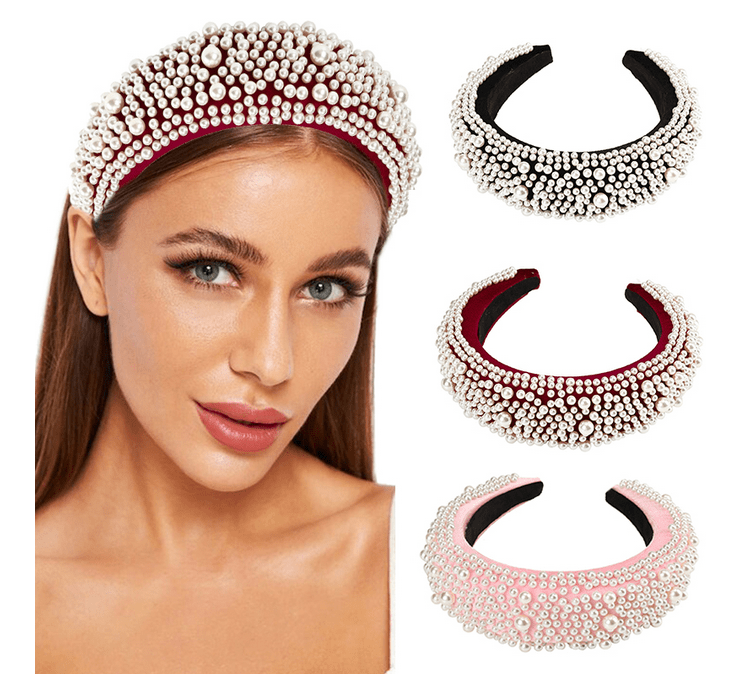 Fashionable Multi Pearl Headband