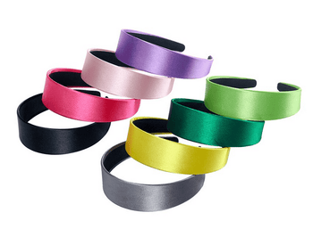 Flat Satin Headbands - 8 colors!