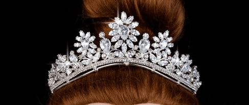 Flower Princess CZ Tiara