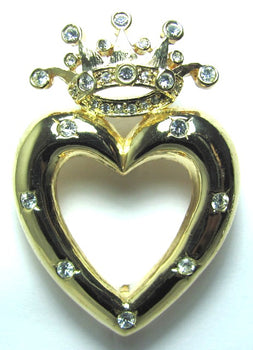 Friendship Crown Pin