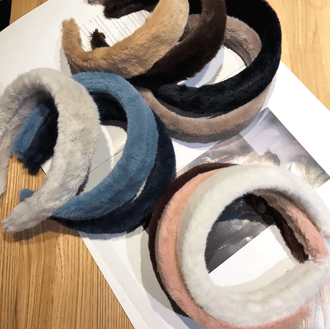 Furry Autumn Headbands - 9 colors!