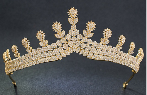 Gwyneth CZ Tiara - Gold or Silver
