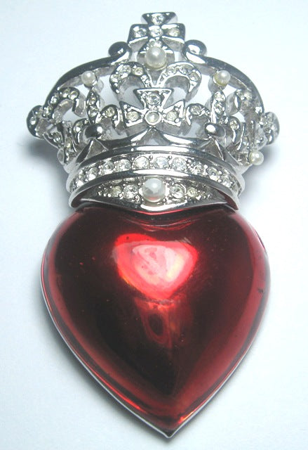 Heart's Desire Crown Pin