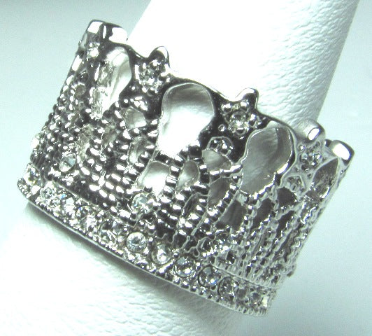 Lacey Crown Ring - Size 5, 7, 8, 9