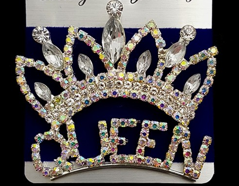 Large Crown QUEEN Pin
