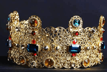 Marylou Antique Gold Tiara