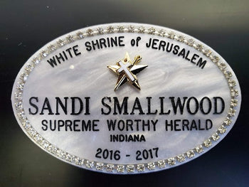 Mother of Pearl Name Badge
