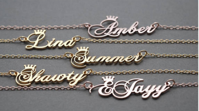 Personalized Anklet with or w/o Crown