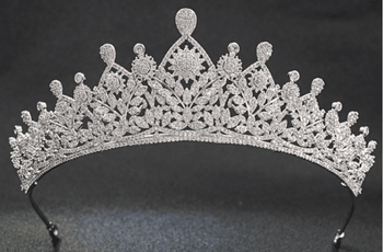 The Herditary CZ Tiara - Silver or Two-Tone