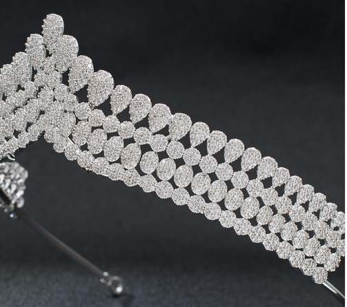 The Fortress CZ Tiara