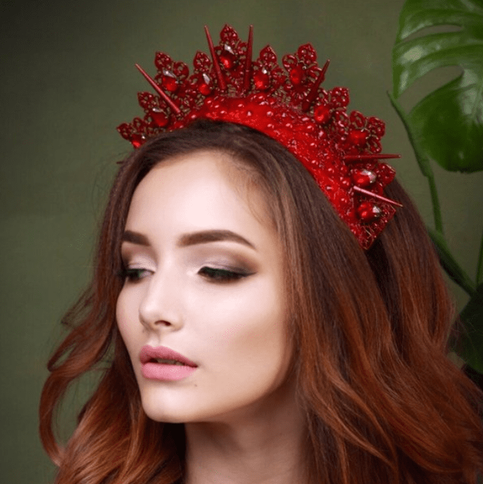 NOELE Red Wedding Crown