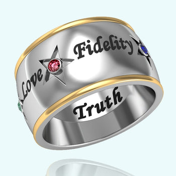 OES Friendship Ring - Two Tone