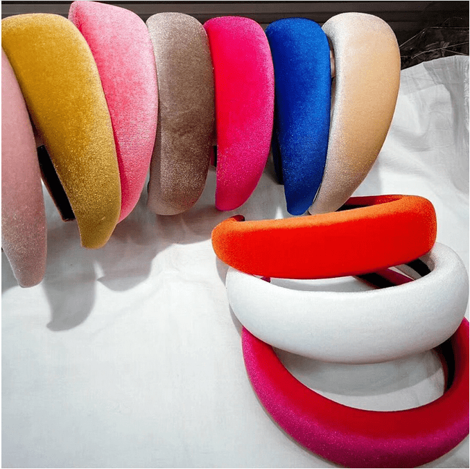 Padded Velvet Headbands - 12 colors!