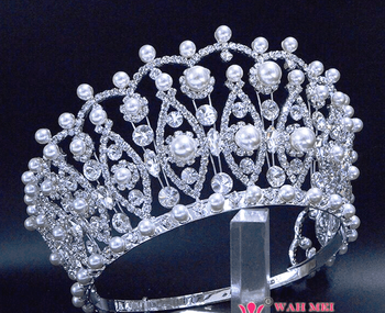 Pearl Pageant Crown - 4 inches