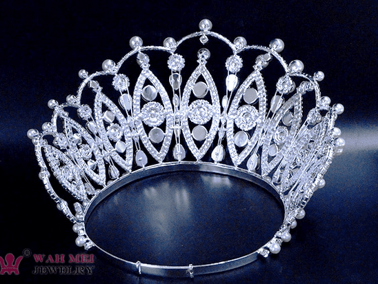 Pearl Pageant Crown - 6 inches