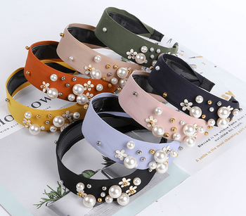 Pearly Floral Headbands - 8 colors!