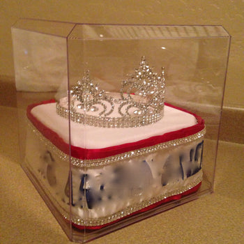 "Personalized Display Case for Crown and Sash - 10""x10""x10"""