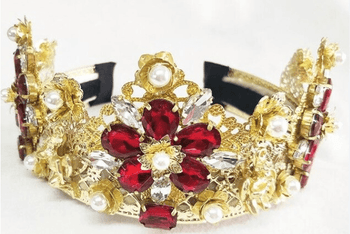 Queen's Crown Headband/Earrings