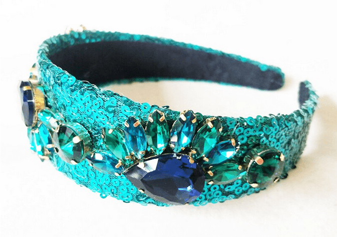 Reverse Sequin Crystal Headband