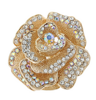 Rhinestone Rose Stretch Ring 2020