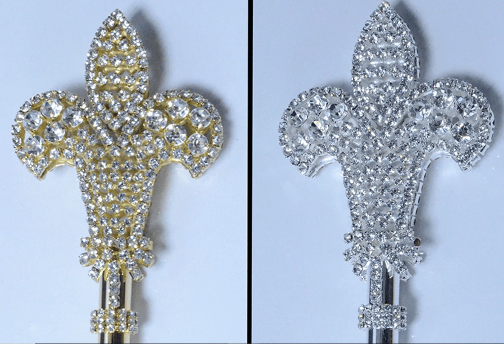 Royal Fleur di Lis Scepter - Gold or Silver
