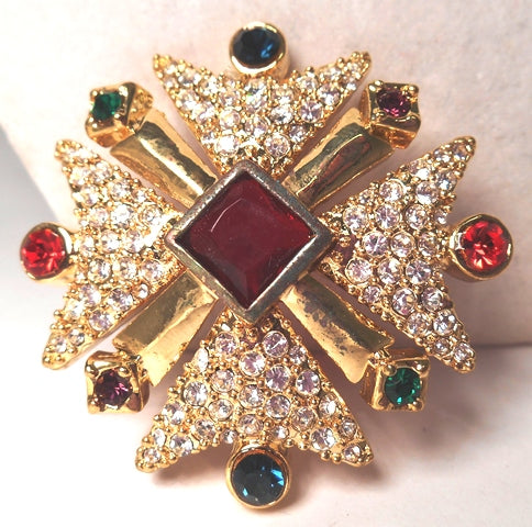 Royal Maltese Cross Pin