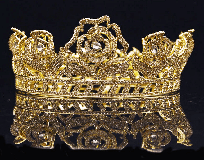 Royal Rose Crown - Gold or Silver