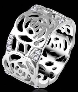 Royal Rose Ring - SILVER OR GOLD