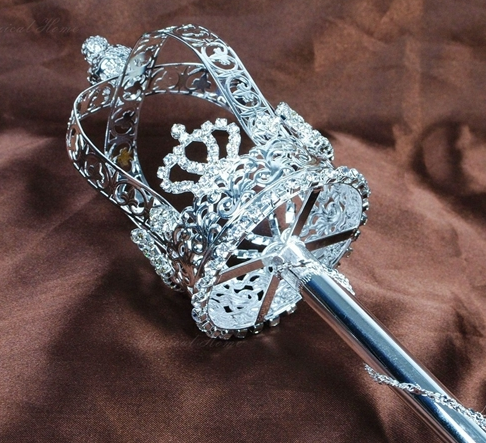 The Crown Scepter - Silver or Gold