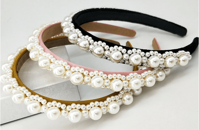 Small Pearl Cluster Headband - 3 colors!