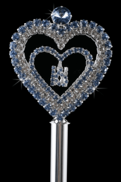 "Sweet ""15"" Open Heart Scepter - Many colors!"