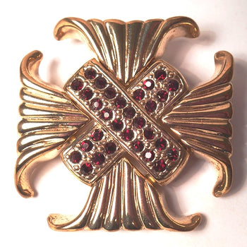 Tailored Maltese Cross Pin - 4 Colors!