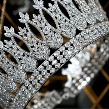 The Fondness CZ Tiara - Gold or Silver