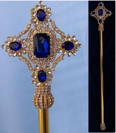 The Sapphire Imperial Scepter - Gold or Silver