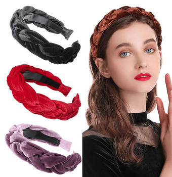 Thick Twisted Velvet Headbands - 12 colors!