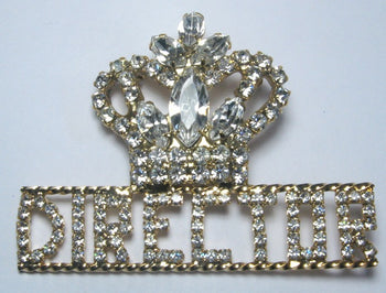 Truth Rhinestone Director Pin