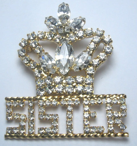 Truth Rhinestone Sister Pin