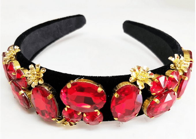 Vintage Golden Floral Headband