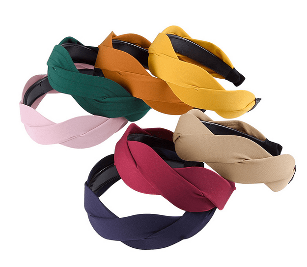 Woven Solid Hairband - 8 colors!